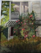 Old House Pastels Prints - Camellias in Bloom Print by Katie Gronsbell