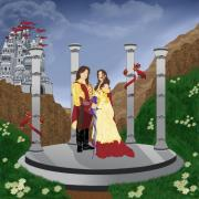 Knights Castle Digital Art - Camelot Greeting by Angela-Michelle Hatheway