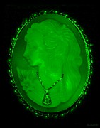 18th Century Digital Art - CAMEO in GREEN by Rob Hans