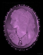 18th Century Digital Art - CAMEO in LIGHT PINK by Rob Hans