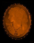 18th Century Digital Art Framed Prints - CAMEO in ORANGE Framed Print by Rob Hans