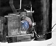 Camera Mixed Media Prints - Camera Parts Print by Rudolf Liebenberg