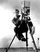Colbw Framed Prints - Cameraman, Buster Keaton, 1928 Framed Print by Everett