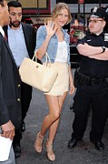 Short Jacket Prints - Cameron Diaz, Enters The Good Morning Print by Everett