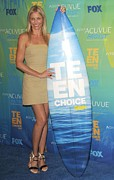 Teen Choice Awards Framed Prints - Cameron Diaz Wearing An A.l.c. Dress Framed Print by Everett
