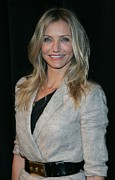 Blonde Framed Prints - Cameron Diaz Wearing An Elizabeth & Framed Print by Everett