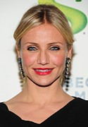 Red Lipstick Posters - Cameron Diaz Wearing Lanvin Earrings Poster by Everett