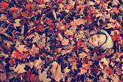 Fall Photographs Posters - Camouflage 02 Poster by Aimelle