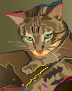 Kitty Digital Art - Camouflage Bengal Cat by Robyn Saunders