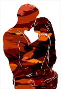 Kiss Paintings - Camouflage Lovers by Stefan Kuhn