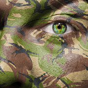 Blending Prints - Camouflage Warrior Print by Semmick Photo