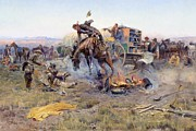 Charles M Russell - Camp Cooks Troubles