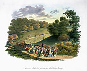 J.g Framed Prints - Camp Meeting, 1819 Framed Print by Granger