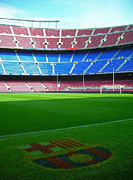 Stadium Seats Art - Camp Nou - Barcelona by Juergen Weiss