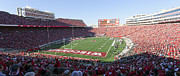 Badgers Prints - Camp Randall Stadium - Madison Wisconsin Print by Steve Sturgill