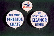 Campaign Photos - Campaign Buttons Attacking President by Everett