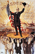 William Mckinley Framed Prints - Campaign Poster, 1896 Framed Print by Granger
