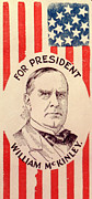 William Mckinley Prints - Campaign Poster For William Mckinley Print by Everett
