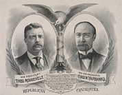 Us Presidents Prints - Campaign Poster Of The 1904 Republican Print by Everett