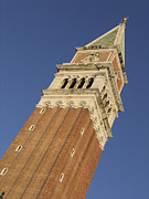 St Mark Framed Prints - Campanile . Plazza san marco. Venice Framed Print by Bernard Jaubert