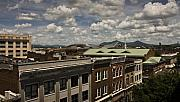Roofline Prints - Campbell Avenue Rooftops Roanoke Virginia Print by Teresa Mucha