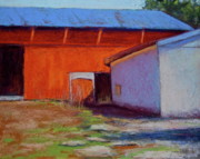 Roofs Pastels - Campbell Farm by Joyce A Guariglia