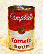 Pop Can Framed Prints - Campbells Tomato Soup Framed Print by Wingsdomain Art and Photography