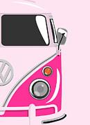 Camper Pink 2 Print by Michael Tompsett