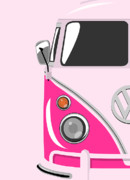 Culture Prints - Camper Pink Print by Michael Tompsett