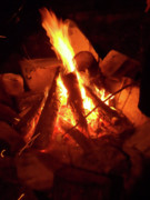 Wood Pile Prints - Campfire Print by Keith QbNyc