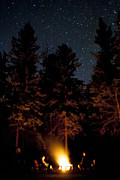 Burst Prints - Campfire Under the Stars Print by Darcy Michaelchuk
