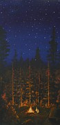Stars Paintings - Camping in the Nothwest by Jennifer Lynch