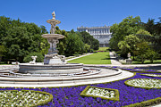 Royal Palace Prints - Campo Del Moro Palacio Real Print by Scotts Scapes