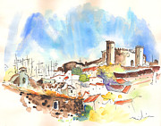 Townscapes Drawings - Campo Maior in Portugal 02 by Miki De Goodaboom