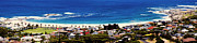 Cape Town Framed Prints - Camps bay beach Framed Print by Fabrizio Troiani