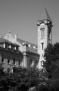 Monotone Prints - Campus Clock Tower Print by Steven Ainsworth