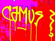 Lyon Prints - Camus ... Graffitied  Print by Funkpix Photo  Hunter