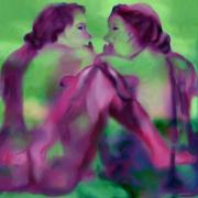 Gay Digital Art Originals - Can we be but lovers by Shelley Bain