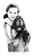 Gordon Setter Prints - Can We Keep Him Print by Carole Raschella