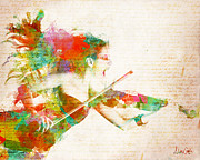 Violinist Digital Art - Can You Hear Me Now by Nikki Marie Smith