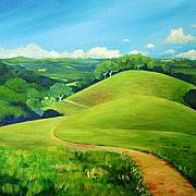 California Coast Paintings - Canada Del Oro Ridge by Stephanie  Maclean