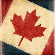 Weathered Prints - Canada flag Print by Setsiri Silapasuwanchai