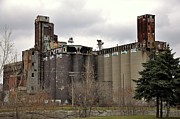 Abandoned Buildings Framed Prints - Canada Malting Plant 2 Framed Print by Reb Frost