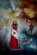 Honour Paintings - Canada Our Passion for Peace by NHowell