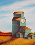 Prairie Paintings - Canadas Grain Train by Kristina Steinbring