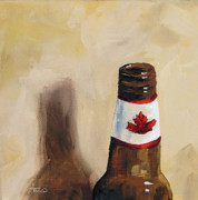 Glass Paintings - Canadian Beer by Torrie Smiley