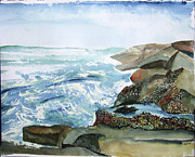 Jan Anderson Watercolors - Canadian Coast by Jan Anderson