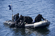 Inflatable Photos - Canadian Divers Being Helped Aboard by Stocktrek Images