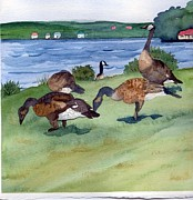 Canadian Geese S  2 Print by Gloria Couture