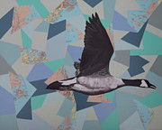 Geese Paintings - Canadian Goose by Ramey Guerra